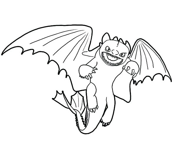 600x526 Night Fury Coloring Pages How To Train Your Dragon Furious Night