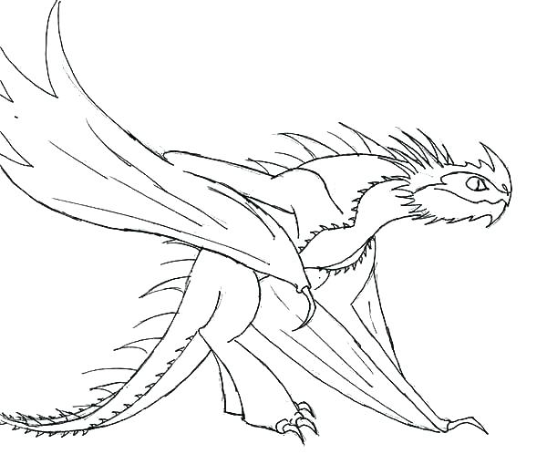 600x498 Toothless The Dragon Coloring Pages
