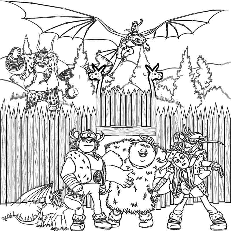 800x800 Coloring Pages How To Train Your Dragon