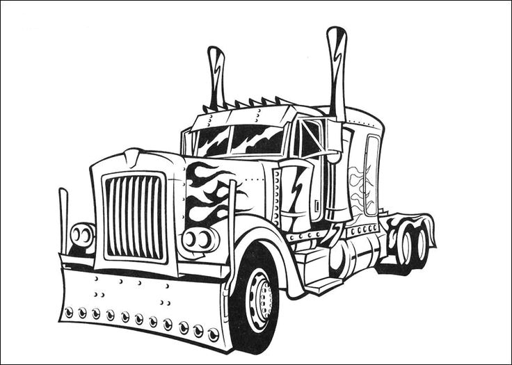 736x525 Transformers Optimus Prime Coloring Pages Coloring Page Zone