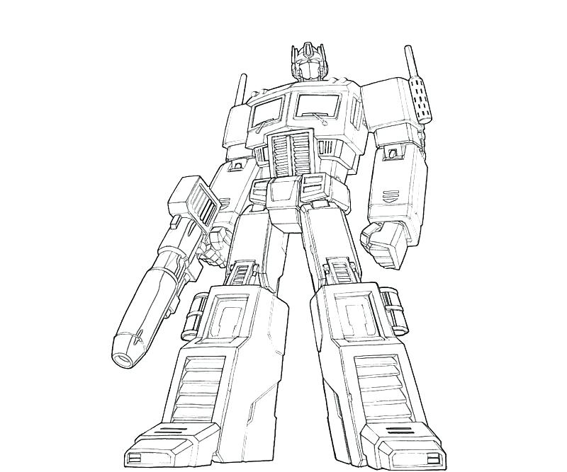 800x667 Transformers Optimus Prime Coloring Pages Prime Coloring Pages
