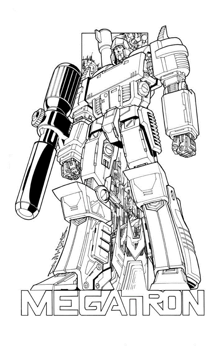 Transformers Coloring Pages Megatron
