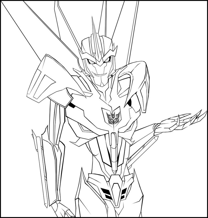 873x915 Transformers Coloring Pages Starscream