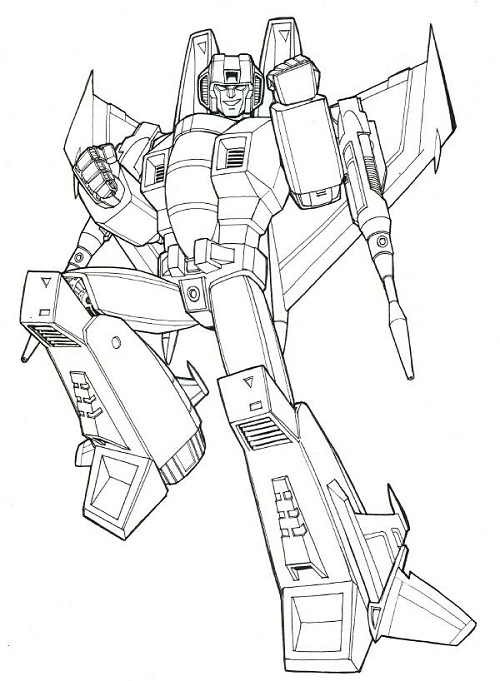500x681 Transformers Coloring Pages Starscream