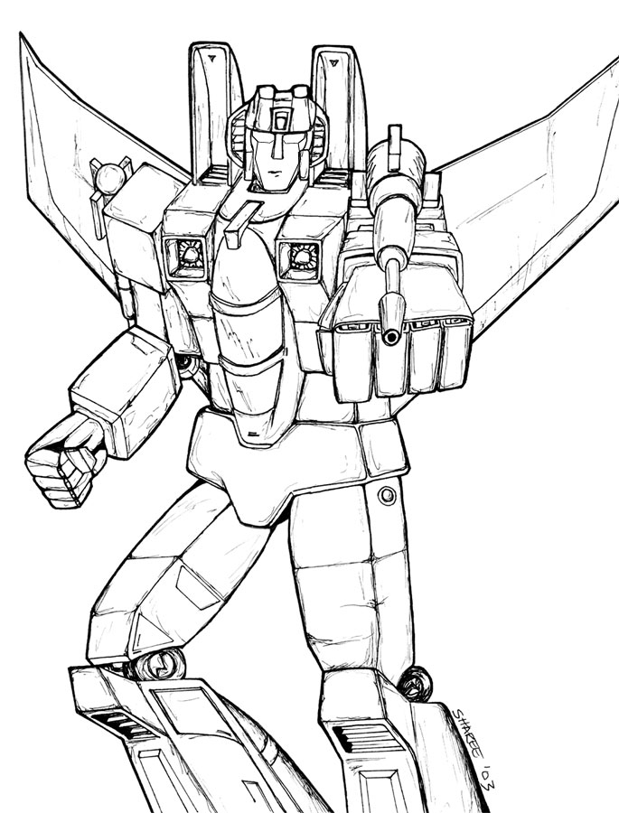 685x900 Transformers Coloring Pages Starscream