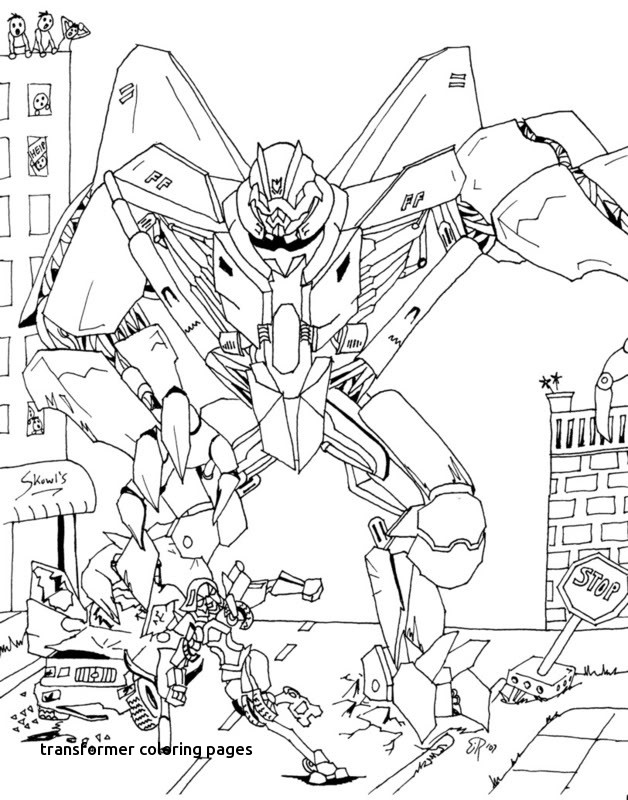 628x800 Best Transformers Coloring Pages Starscream For Transformer