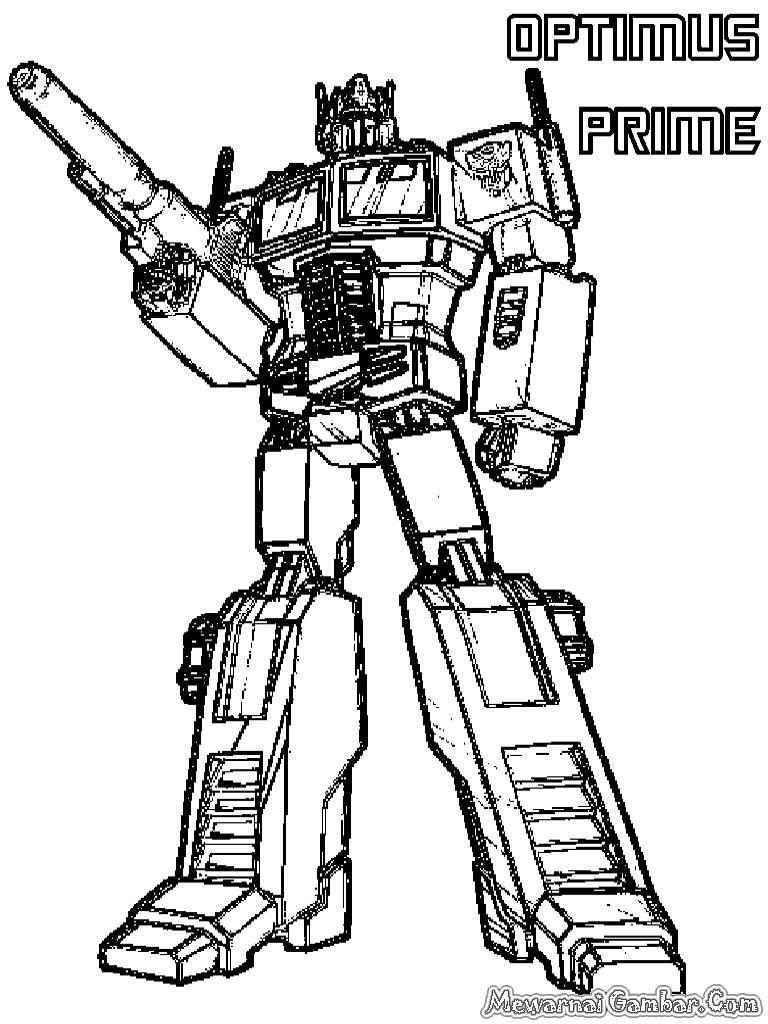 768x1024 Coloring Pages Of Optimus Prime Optimus Prime Transformer