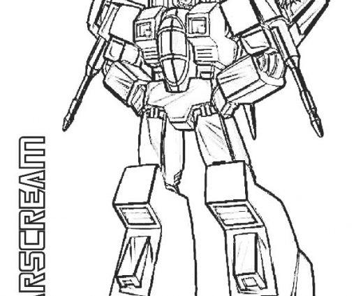 510x425 Transformer Starscream Coloring Pages Evil Starscream