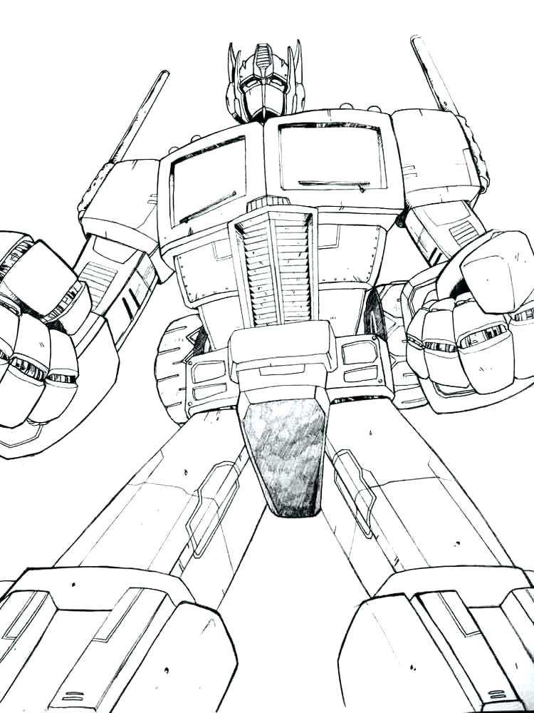 750x1000 Outline Transformers Coloring Page Pages And Drawing Adult Cool
