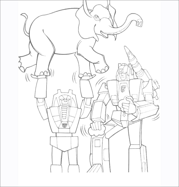 680x710 Transformers Colouring Pages Free Premium Templates