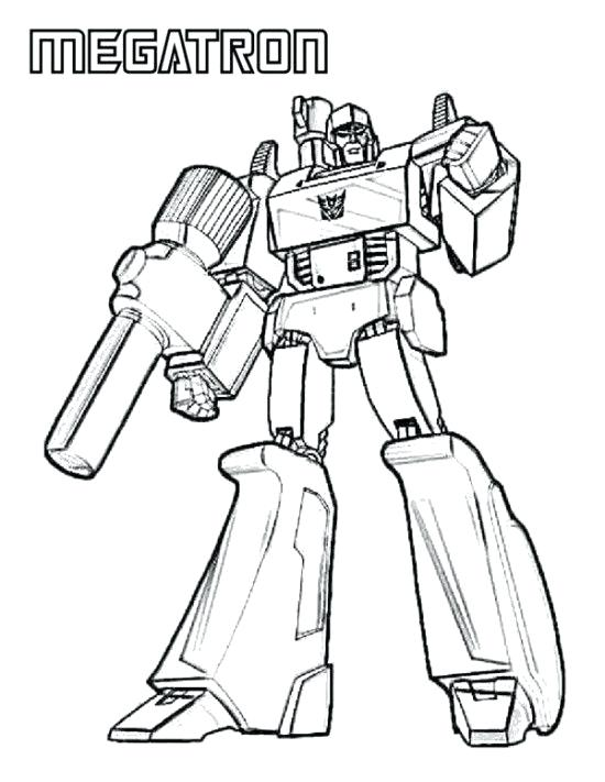 550x711 Transformers Coloring Page