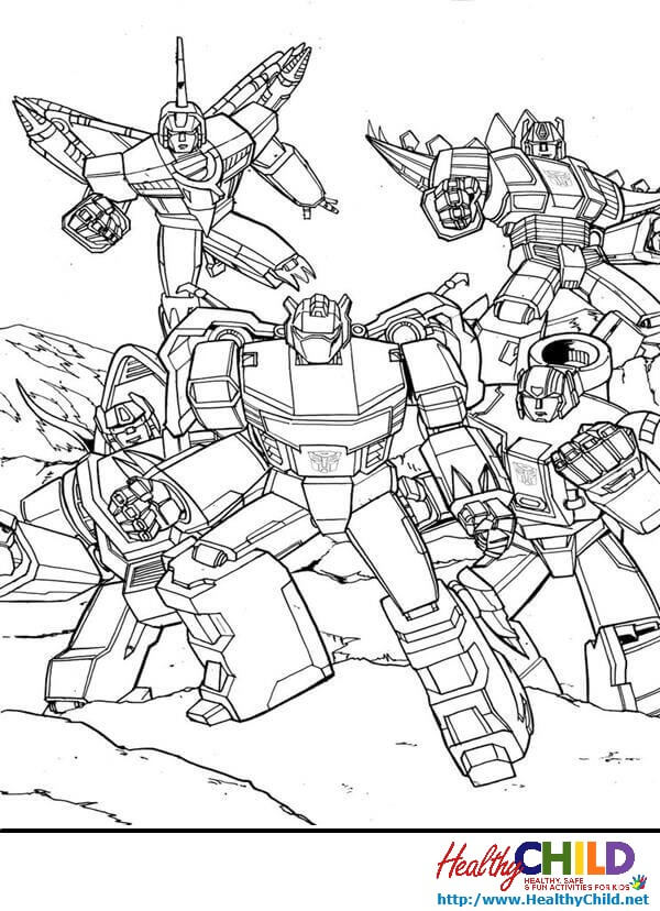 Transformer Coloring Pages in 2020 | Transformers coloring pages ... | 828x600