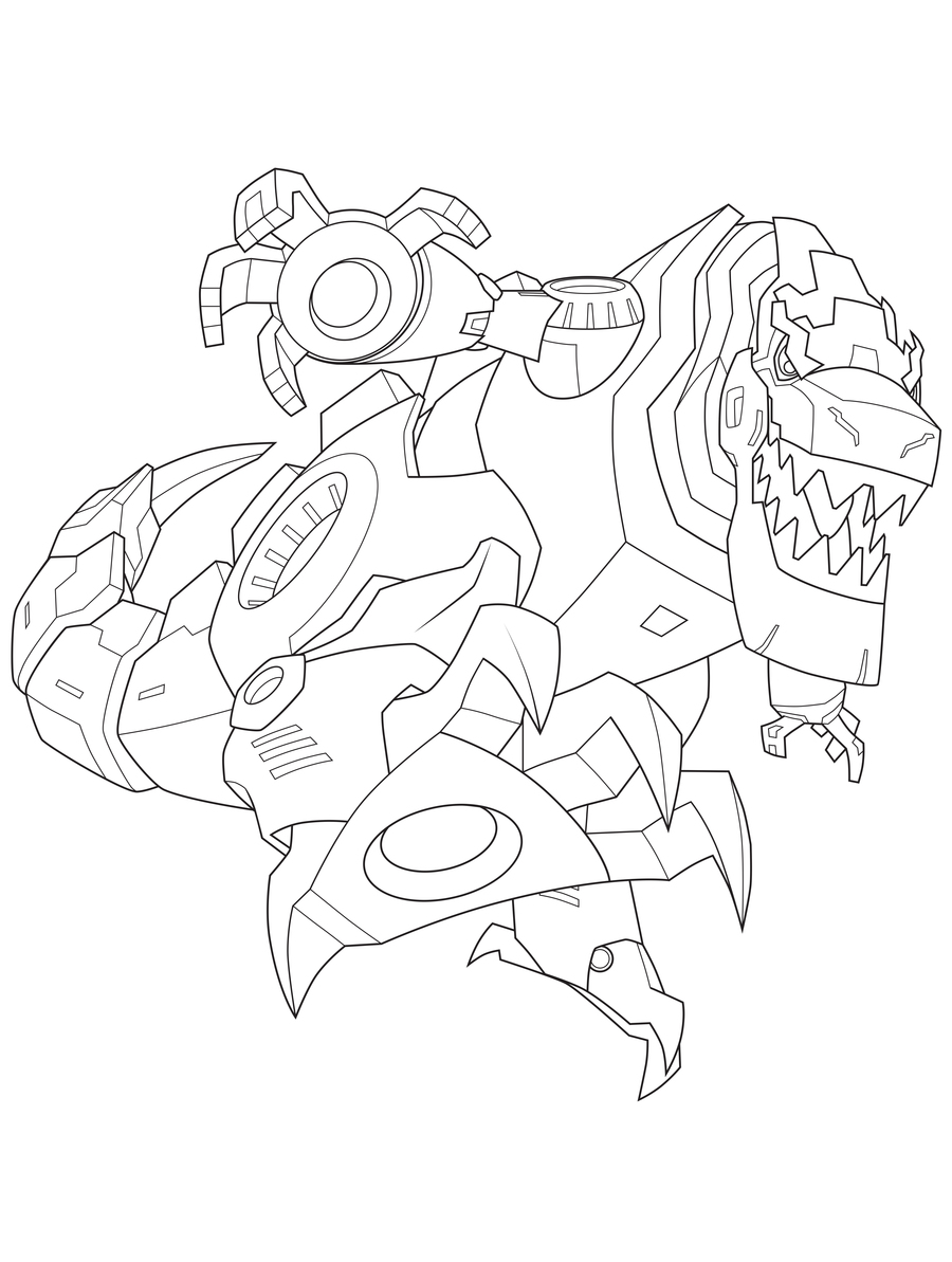 900x1193 Transformers Grimlock Dinosaur Robot Coloring Pages