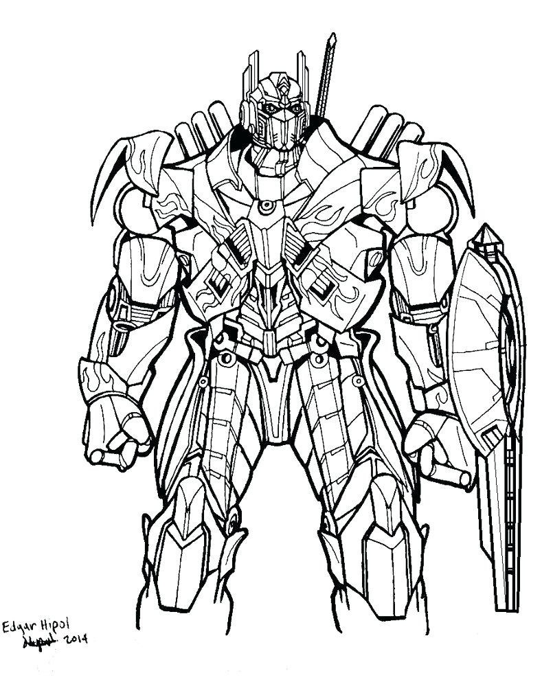 805x993 Grimlock And Optimus Prime Coloring Page Nyomtat Crafts