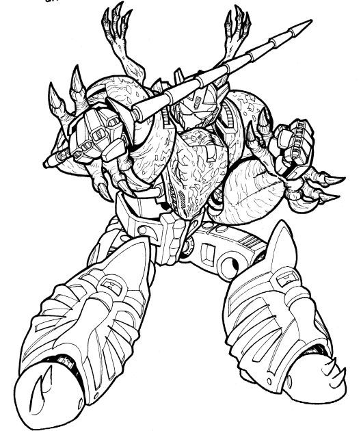 528x630 Grimlock Coloring Pages