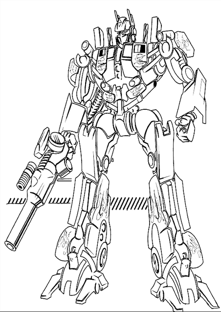 452x639 Transformers Coloring Page Coloring Book