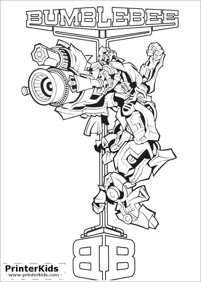 680x952 Transformers Coloring Pages Drawn Bumblebee Transformer