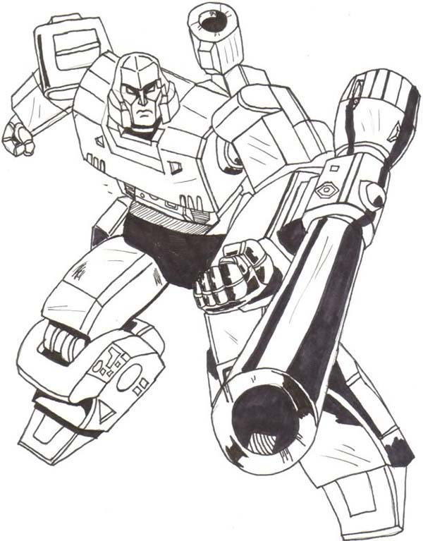 600x767 Drawing Of Megatron Coloring Page