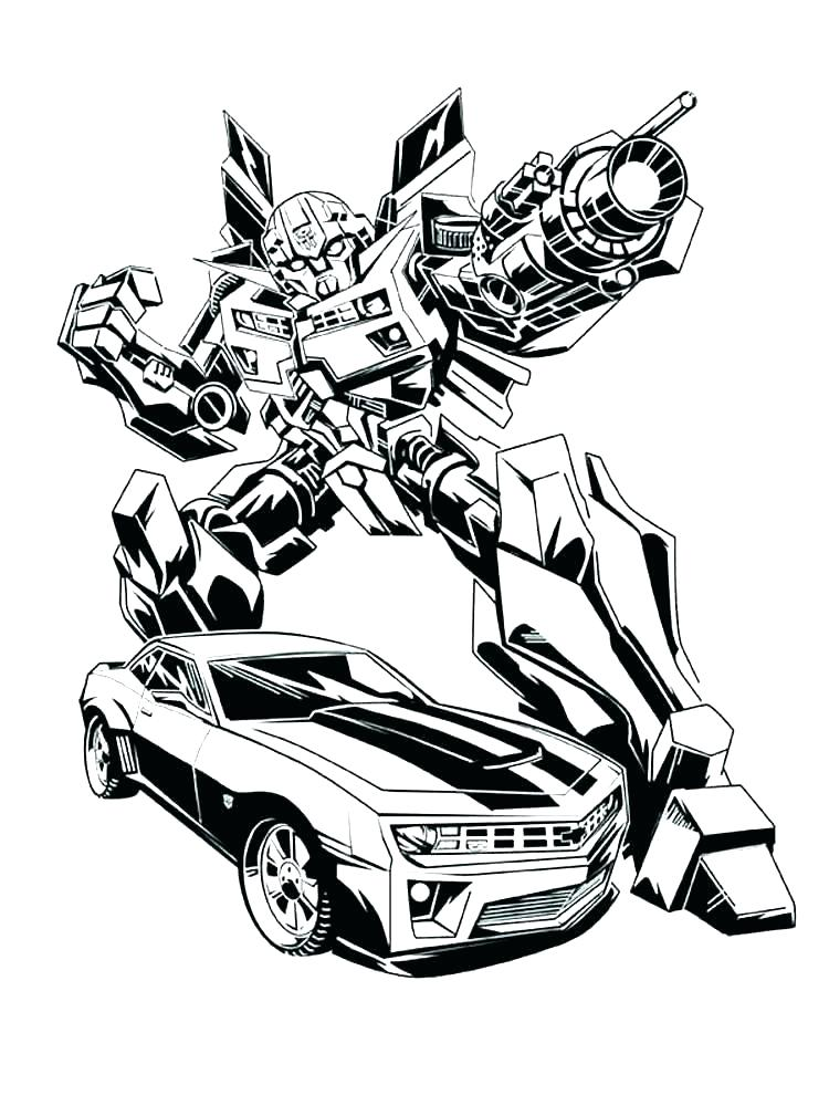 750x1000 Transformers Coloring Pages Bumblebee Transformer Coloring Page