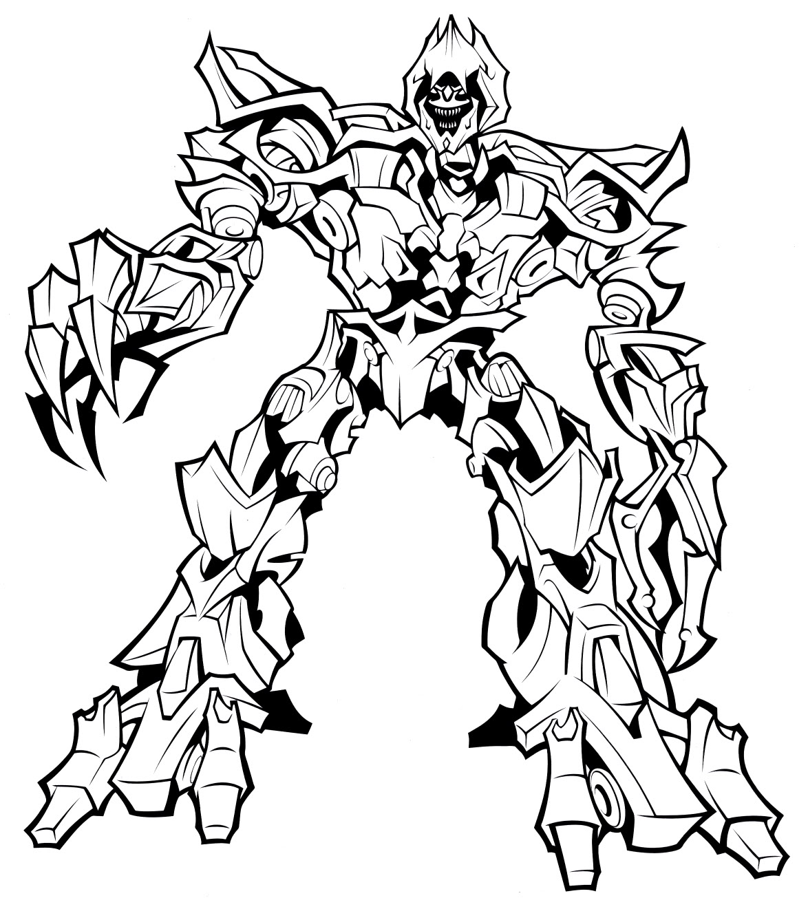 1174x1337 Transformers Coloring Pages Megatron