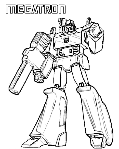 485x609 Transformers Megatron Coloring Page Coloring Book
