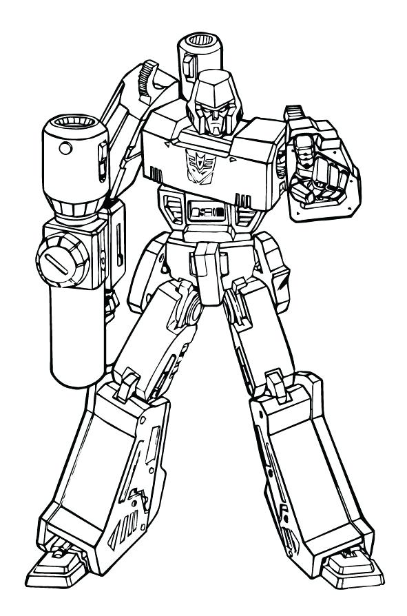 591x894 Megatron Coloring Pages Free Transformers Coloring Page Comics