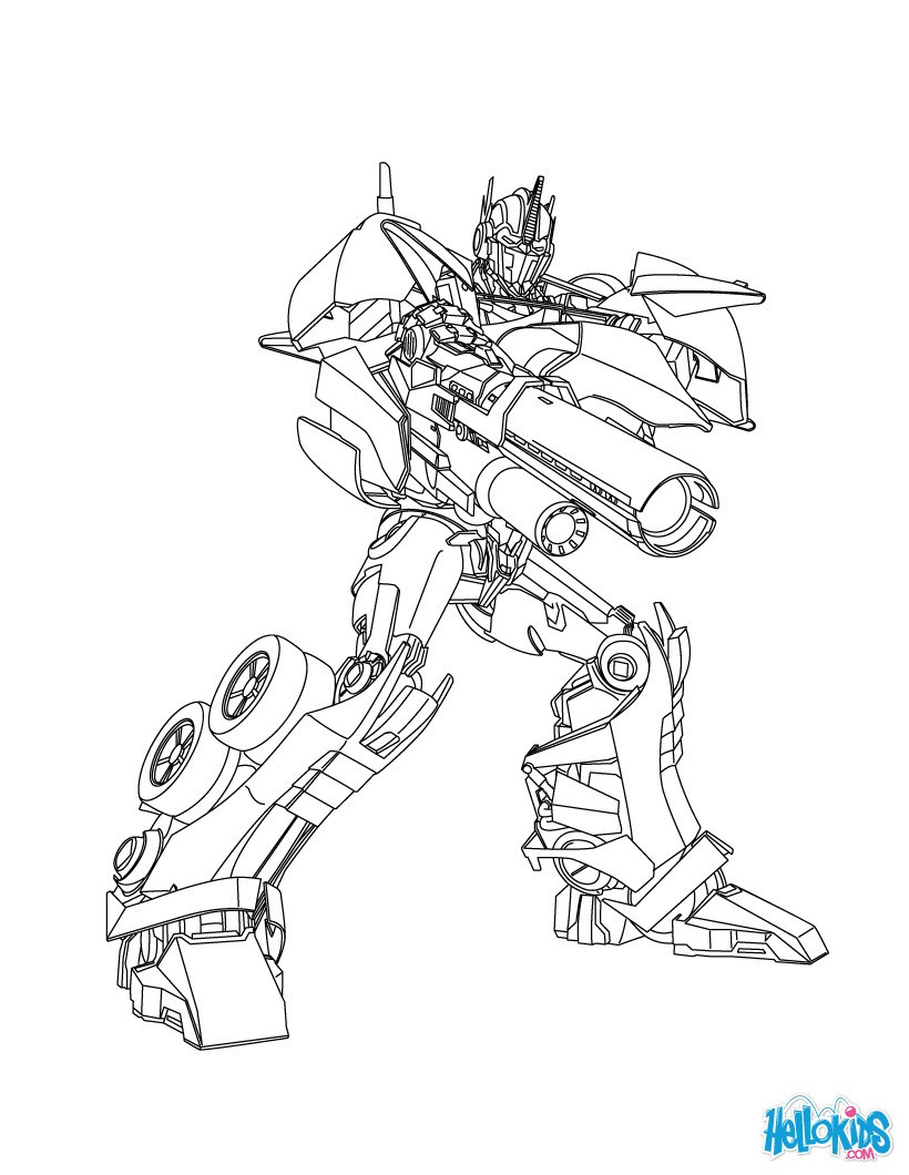 820x1060 Optimus Prime Coloring Pages Hellokids Com Brilliant Transformers