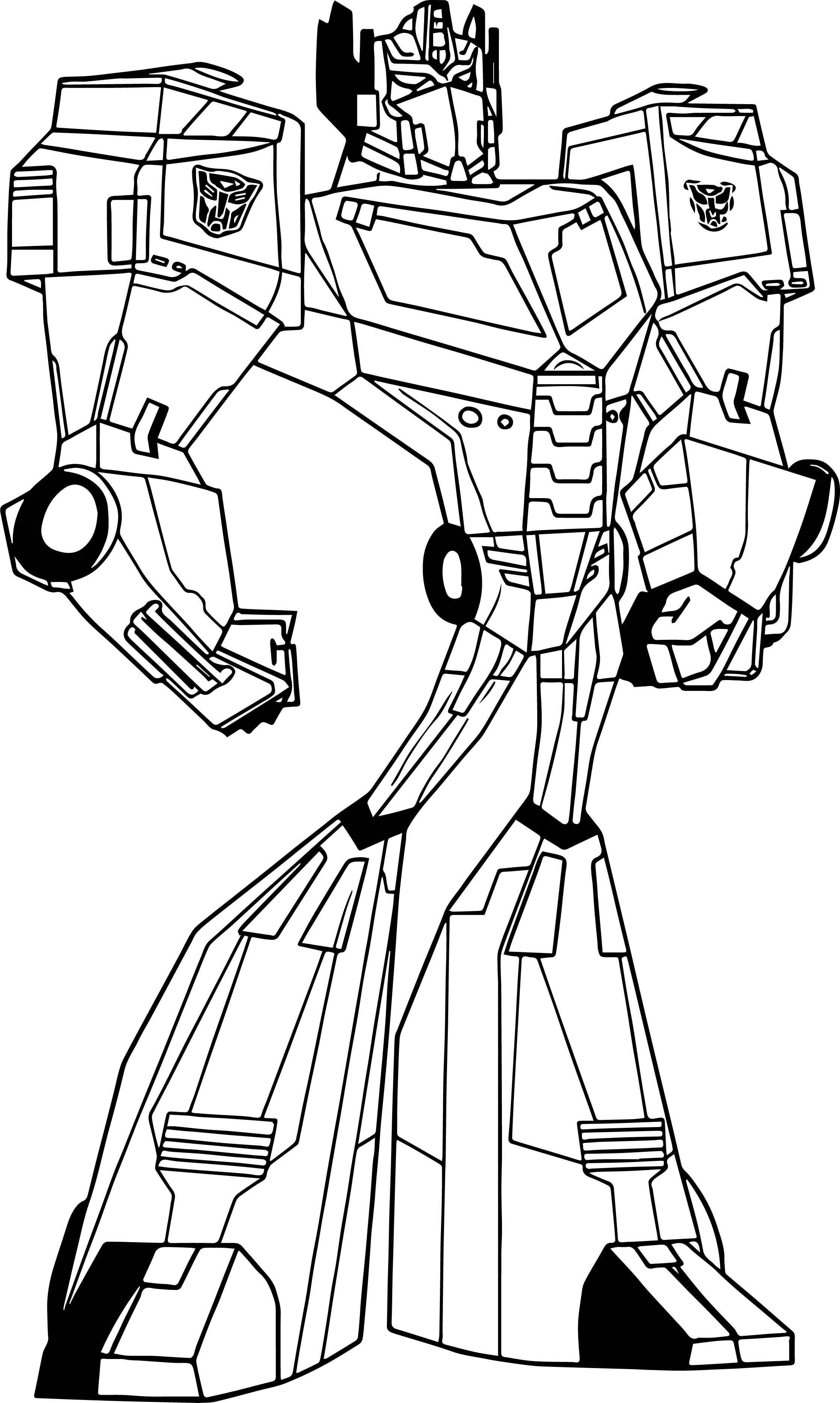 F95239 Transformers Prime Coloring Pages Optimus Prime Wiring