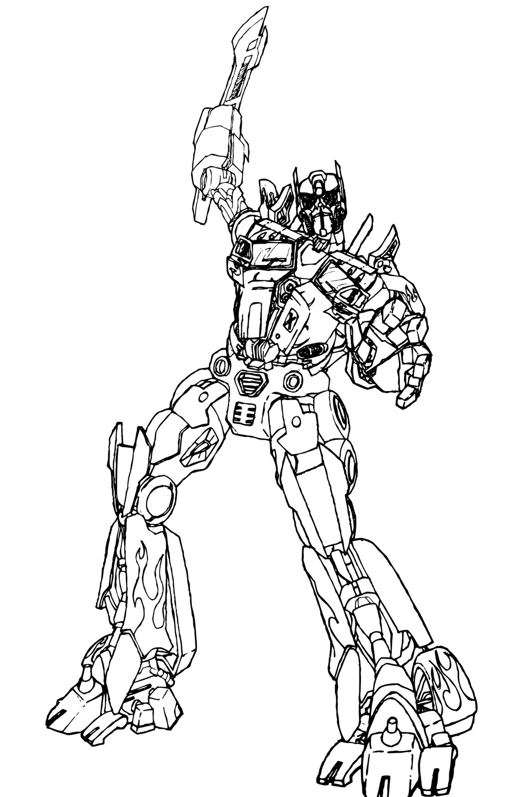 1067x1600 Impressive Transformers Optimus Prime Coloring Pages