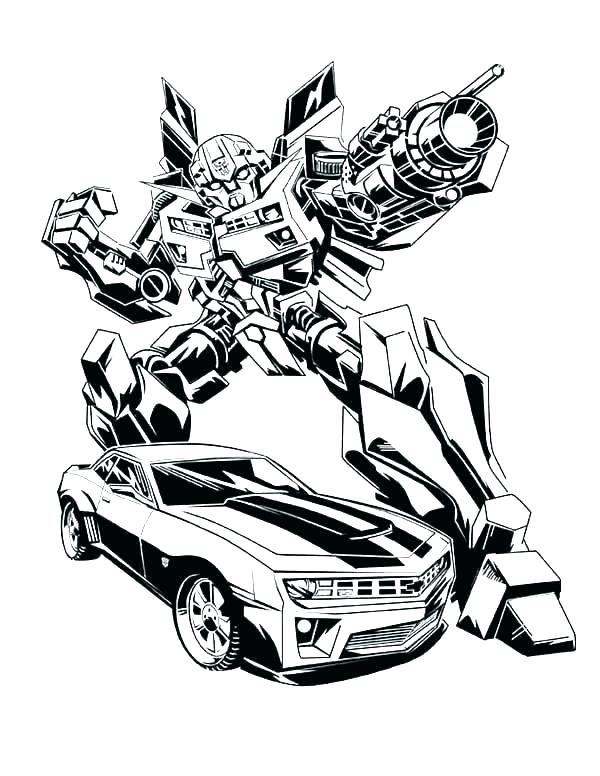 600x776 Transformer Coloring Pages Optimus Prime Enemy Shooting Prime
