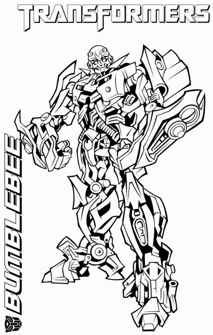 719x1132 Transformers Coloring Pages Bumblebee Coloring Pages