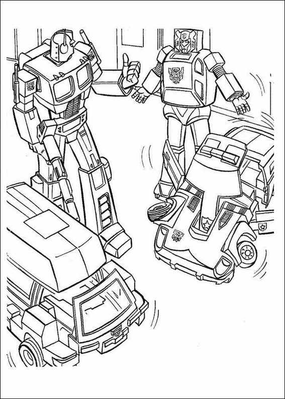 567x794 Transformers Printable Coloring Pages Red Transformer Colouring