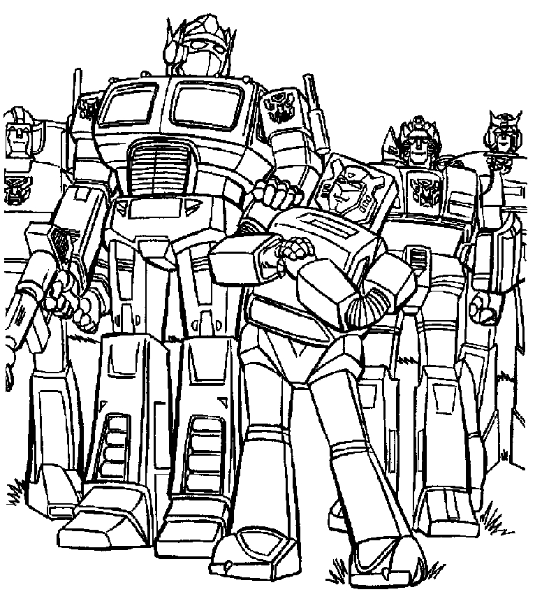 766x857 Printable Coloring Pages Of Transformers Coloring Page Zone