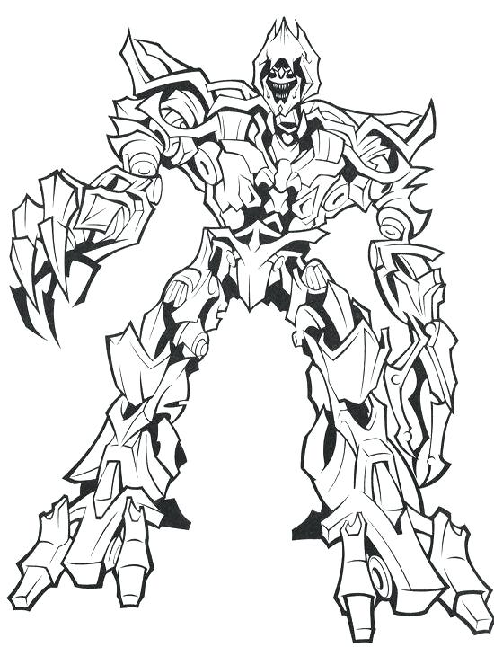 550x720 Transformers Color Pages