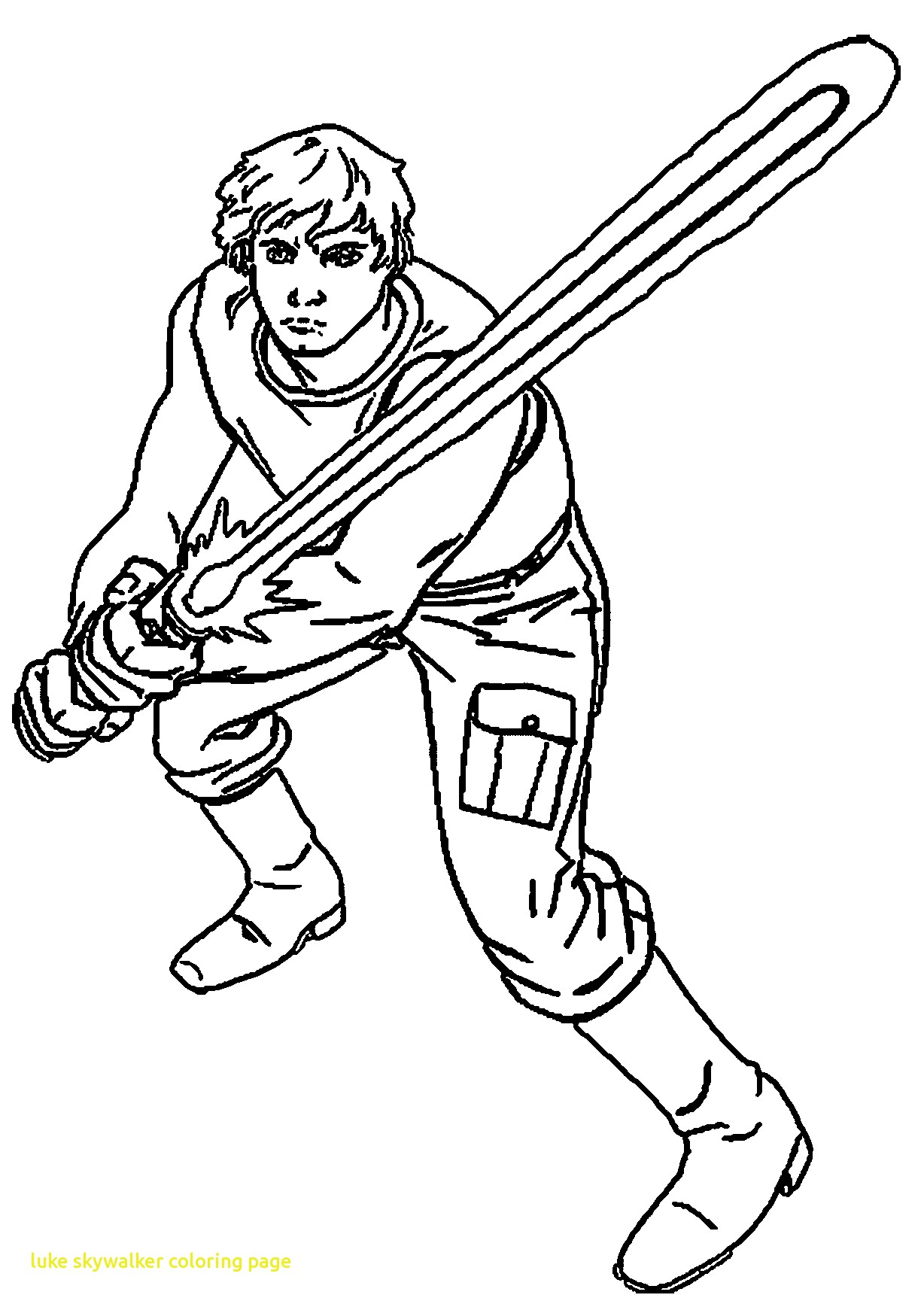 1228x1733 Luke Skywalker Clipart Colouring Page
