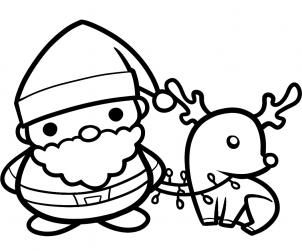 302x251 How To Draw Santa And Rudolph, Santa And Rudolph Step I Love