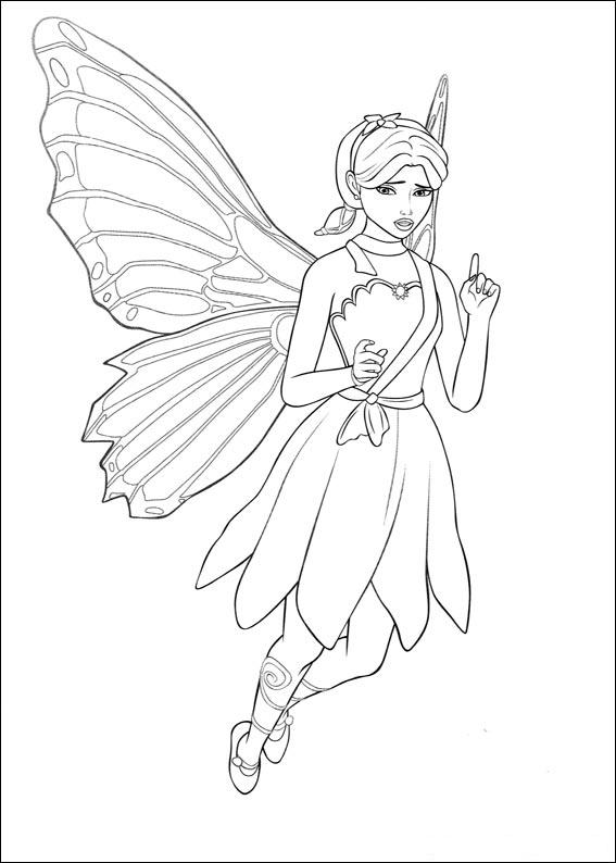 567x794 Butterfly Fairy Coloring Pages