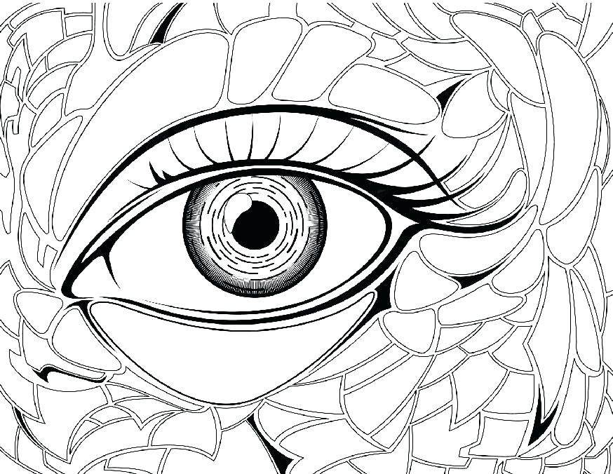 874x676 Eyeball Coloring Page Eye Brawl Skylander Coloring Page Eyeball