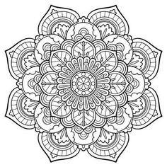 236x236 Free Printable Mandala Coloring Pages Large Transparent Png