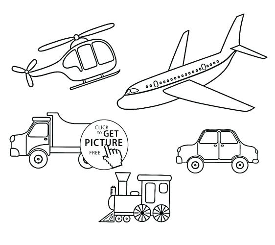562x500 Transportation Coloring Page Medium Size Of Transportation