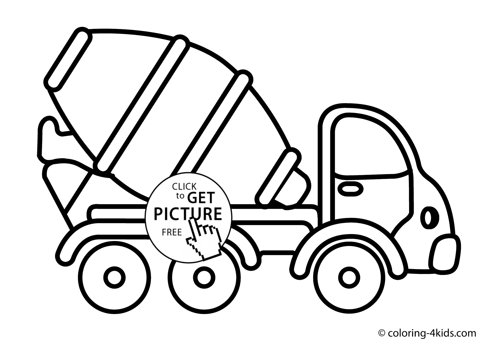 2079x1483 Coloring Pages Of Trucks New Cement Mixer Truck Transportation