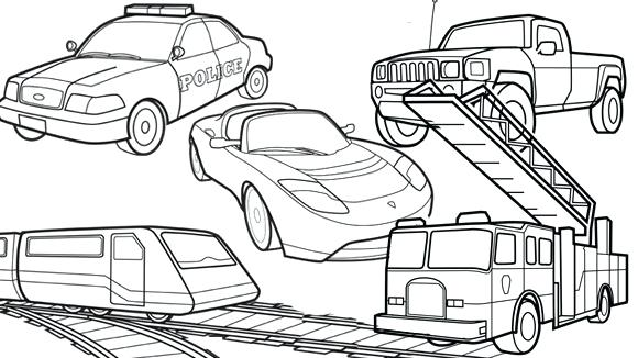 580x326 Transportation Coloring Pages Amazing Transportation Coloring