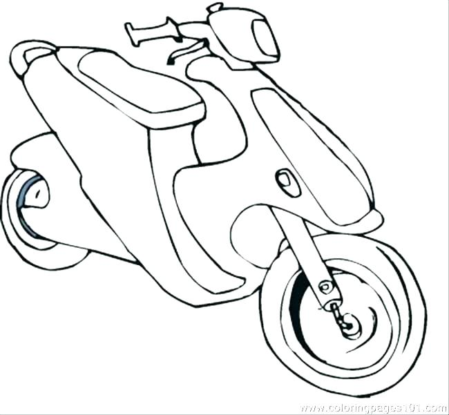 650x601 Transportation Coloring Page