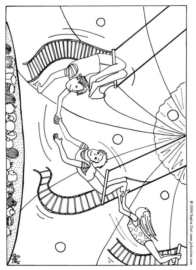 Trapeze Coloring Pages
