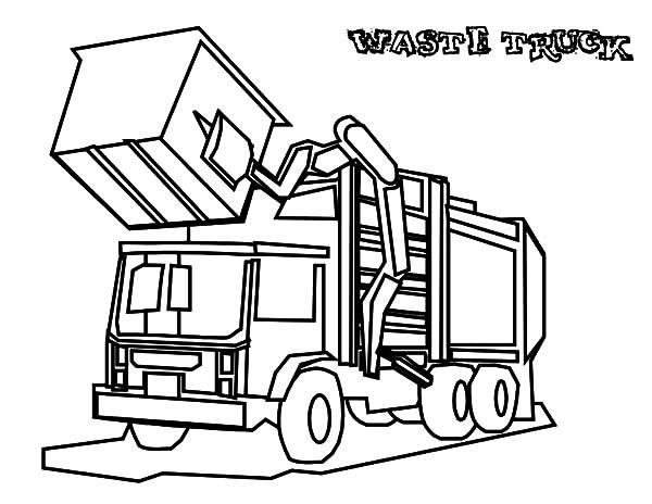 600x464 Garbage Waste Truck Coloring Pages Garbage Waste Truck Coloring