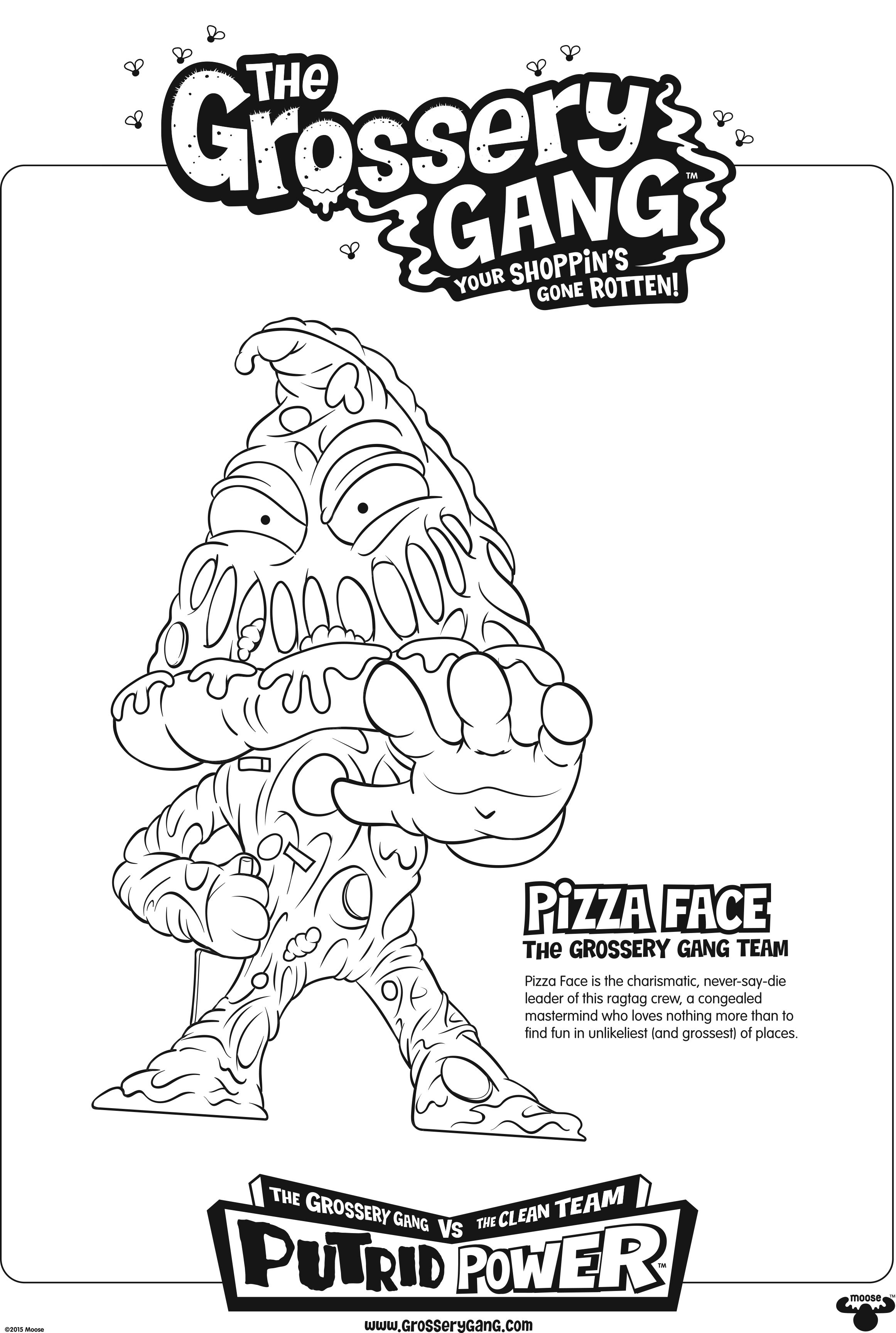 2323x3456 Innovative Ideas Grossery Gang Coloring Pages Season Poster