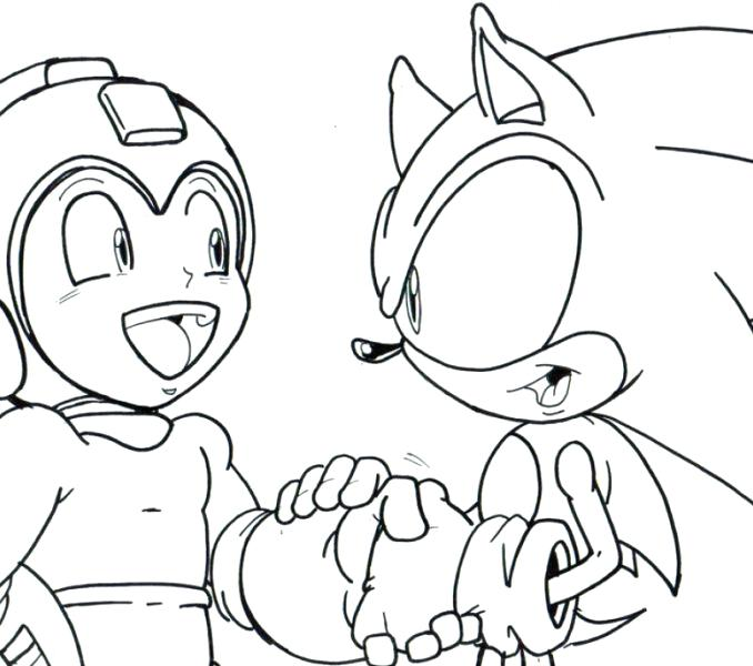 678x600 Mega Man Coloring Pages Free Sheet Google Search Regarding Trash