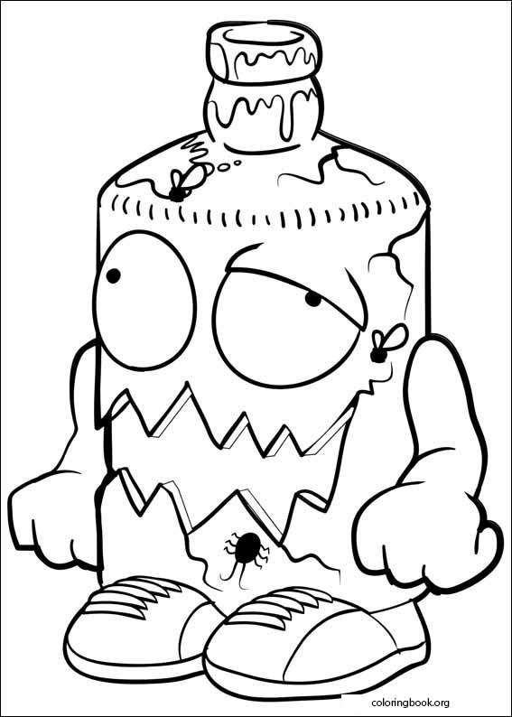 567x794 The Trash Pack Coloring Page