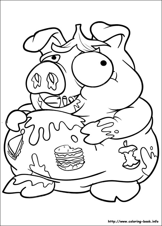 567x794 The Trash Pack Coloring Picture