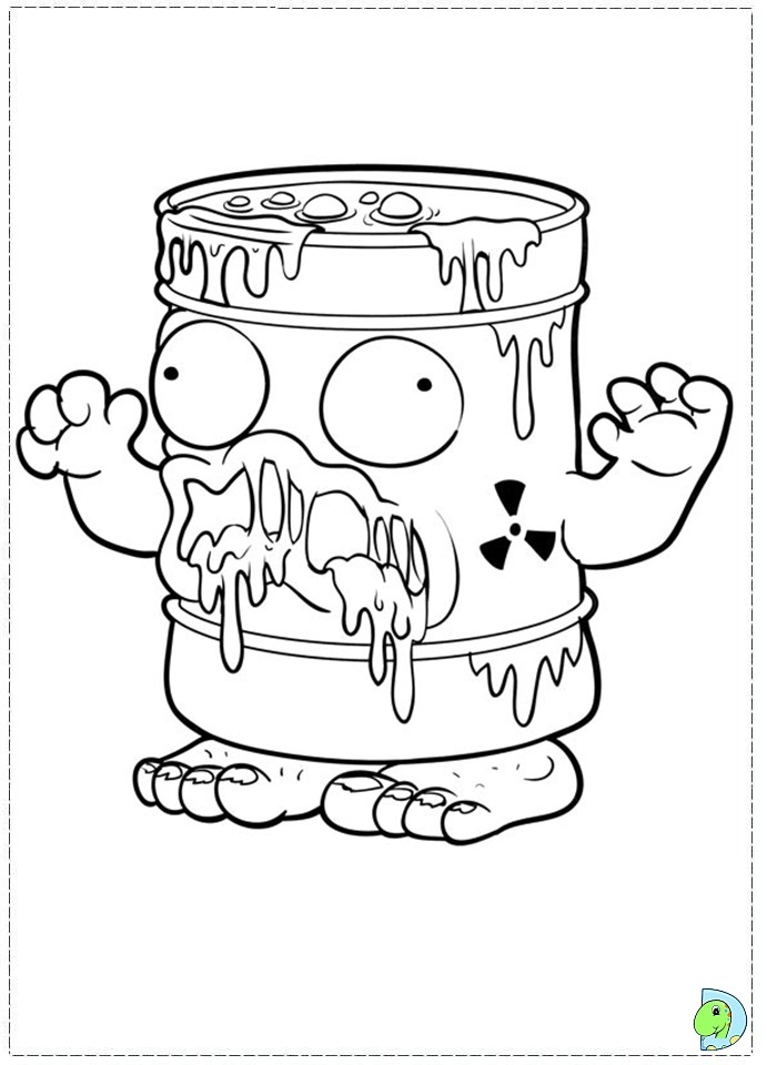 691x960 Trash Pack Coloring Pages